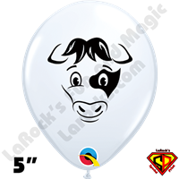 Qualatex 5 Inch Round Cow Balloons 100ct