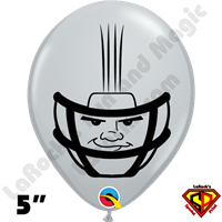 Qualatex 5 Inch Round Football Helmet Gray Balloons by Dylan Rowe 100ct