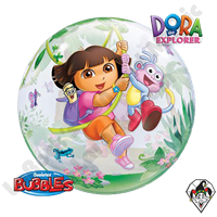22 Inch Dora The Explorer & Boots Bubble Qualatex 1ct