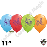 Qualatex 11 Inch Round Teenage Mutant Ninja Turtles Assortment Balloons 25ct