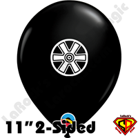 11 Inch Round Double Wheels 2-Sided Print Balloon Qualatex 50ct by Dylan Rowe