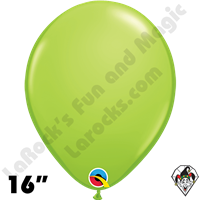 Qualatex 16 Inch Round Fashion Lime Green Balloons 50ct