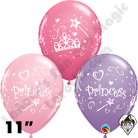 Qualatex 11 Inch Round Princess Assortment Balloons 50ct