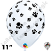 Qualatex 11 Inch Round Paw Prints-A-Round Balloons