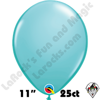11 Inch Round Fashion Caribbean Blue Balloons Qualatex 25ct