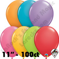 Qualatex 11 Inch Round Festive Assortment Balloons