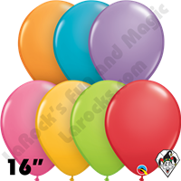 Qualatex 16 Inch Round Festive Assortment Balloons 50ct