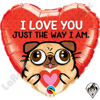 18 Inch Heart I Love You Just The Way I Am Foil Balloon Qualatex 1ct