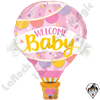 42 Inch Shape Welcome Baby Pink Balloon Foil Balloon 1ct.