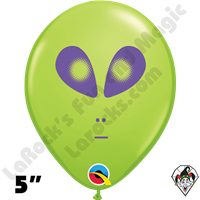Qualatex 5 Inch Round Alien Lime Green Balloons 100ct