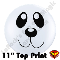 11 Inch Round Panda Face Balloons Qualatex 50ct