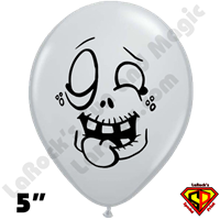 Qualatex 5 Inch Round Igor Zombie Gray Balloons by Juan Gonzales 100ct