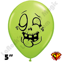 Qualatex 5 Inch Round Igor Zombie Lime Green Balloons by Juan Gonzales 100ct