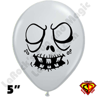 Qualatex 5 Inch Round Ghoul Zombie Gray Balloons by Juan Gonzales 100ct