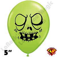 Qualatex 5 Inch Round Ghoul Zombie Lime Green Balloons by Juan Gonzales 100ct