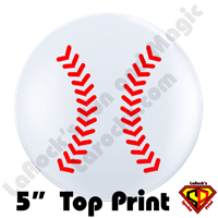 Qualatex 5 Inch Round Baseball Top Print Balloons by Philip Nanni 100ct