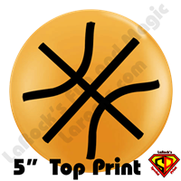 Qualatex 5 Inch Round Basketball Top Print Balloons by Philip Nanni 100ct