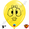 Qualatex 5 Inch Round Emoji Girl by Juan Gonzales 100ct