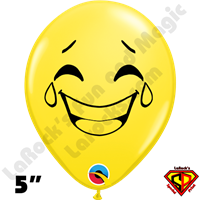 Qualatex 5 Inch Round Emoji Hysterical by Juan Gonzales 100ct