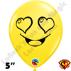 Qualatex 5 Inch Round Emoji Love by Juan Gonzales 100ct