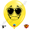Qualatex 5 Inch Round Emoji Shades by Juan Gonzales 100ct