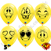 Qualatex 5 Inch Round Emoji Assortment by Juan Gonzales 100ct