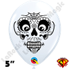 Qualatex 5 Inch Round Sugar Skull White by Holly George 100ct