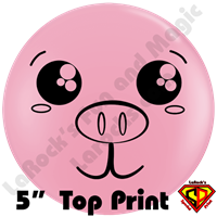 Qualatex 5 Inch Round Pig Face Top Print Balloons by Jamie Stepanek 100ct