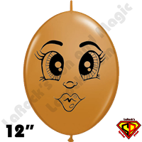 12 Inch Quick Link Betsy Mocha Brown Balloons by Juan Gonzales Qualatex 50ct