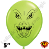 Qualatex 5 Inch Round Raptor Lime Green Balloons by Joe Baker 100ct