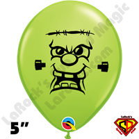 Qualatex 5 Inch Round Frankie Lime Green Balloons by Juan Gonzales 100ct