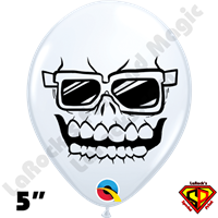 5 Inch Round Skully Balloons by Juan Gonzales Qualatex 100ct