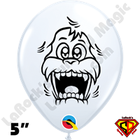 Qualatex 5 Inch Round Yeti White Balloon by Juan Gonzales 100ct