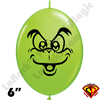 Qualatex 6 inch Quick Link Grouchie Lime Green Balloon by Juan Gonzales 50ct