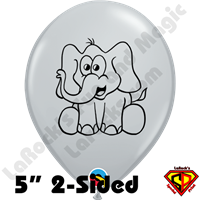 Qualatex 5 Inch Round Elephant Gray Balloons 100ct by Juan Gonzales