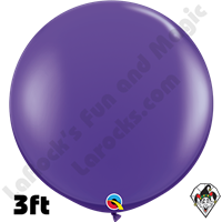 Qualatex 3 Foot Round Fashion Purple Violet Balloons 2ct