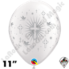 Qualatex 11 in Round Cross and Doves Balloons 50 Ct