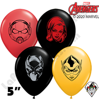 Qualatex 5 Inch Round Assortment Marvel's Character Faces Balloons 100ct