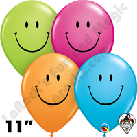 Qualatex 11 Inch Round Smile Assortment Balloons 50ct