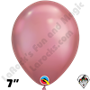 Qualatex 7 Inch Round Chrome Mauve Balloons 100ct