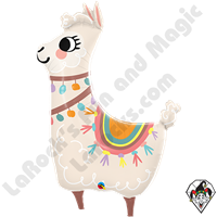 45 Inch Shape Loveable Llama Foil Balloon Qualatex 1ct