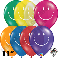 Qualatex 11 Inch Round Smile Jewel Assortment Balloons 50ct
