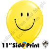 11 Inch Round Smile Yellow Qualatex 50ct