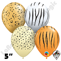 Qualatex 5 Inch Round Safari Assortment Balloons 100ct