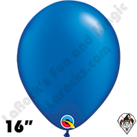 Qualatex 16 Inch Round Pearl Sapphire Blue Balloons 50ct