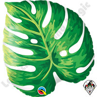 21 inch Shape Tropical Philodendron Foil Qualatex Balloon 1ct