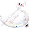 35 Inch Shape Graceful Swan Foil Balloon Qualatex 1ct