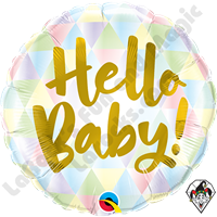 18 Inch Round Hello Baby! Foil Balloon Qualatex 1ct