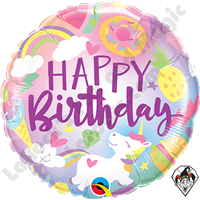 18 Inch Round Fantastical Fun Birthday Foil Balloon Qualatex 1ct.