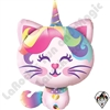 "38"" Shape Mythical Caticorn Foil Balloon Qualatex 1ct"